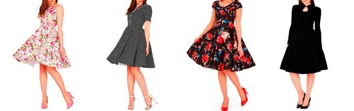 Características de los vestidos vintage de los años 50s