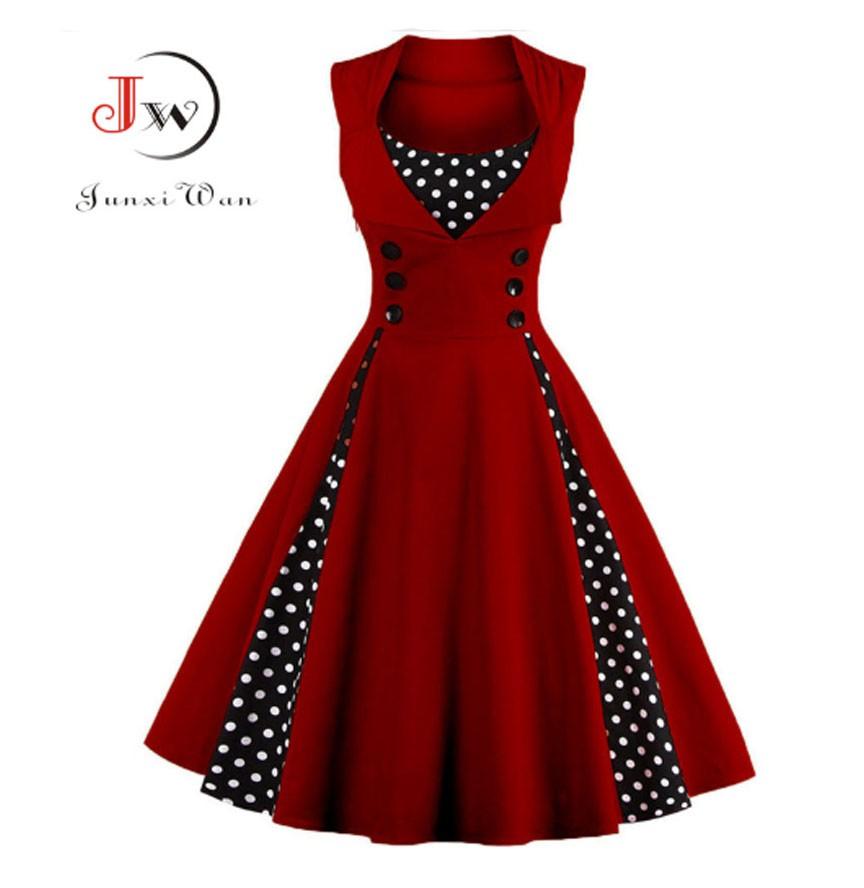 Vestido Vintage De Los Años 50s 60s Rockabilly Pin Up Vestidos De Fiesta Elegante