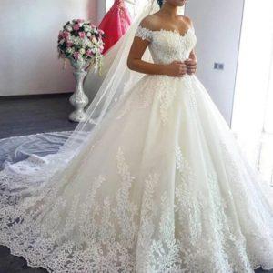 Vestido vintage de boda retro encaje