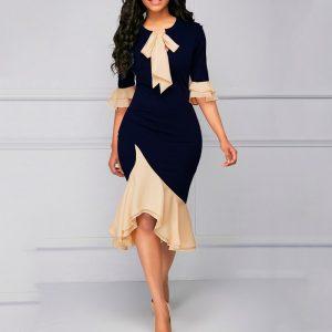 Vestido vintage elegante de noche