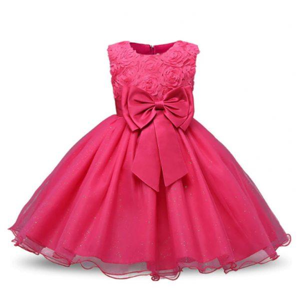 Vestido vintage de niñas rosado