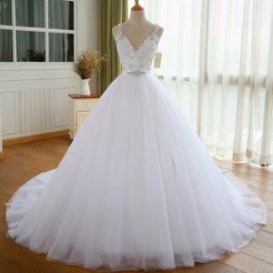 Vestido vintage de boda con encaje