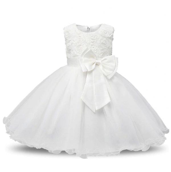 Vestido vintage de niñas blanco princesa