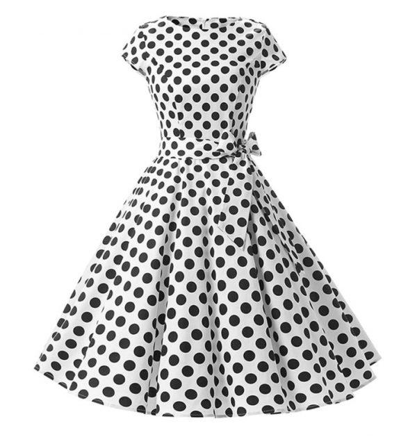 Vestidos vintage de los años 50 con lunares puntos