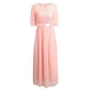 Vestido vintage rosado con encaje