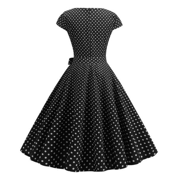 Vestido vintage Polka Dot negro lunares