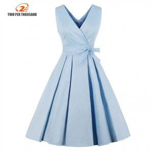 Vestido corto azul plisado