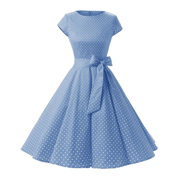 comprar baratas a8e8b f908c Vestido Vintage de fiesta de los años 50 nuevos polka dots estilo Rockabilly