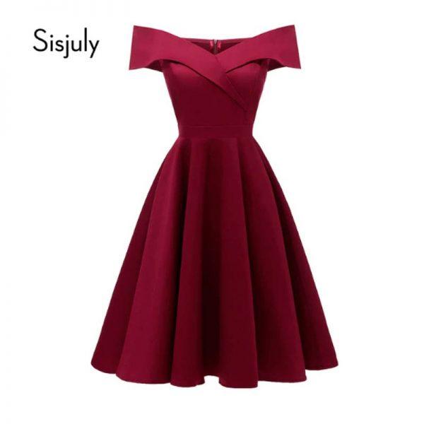 Vestido corto de fiesta Sisjuly Elegante