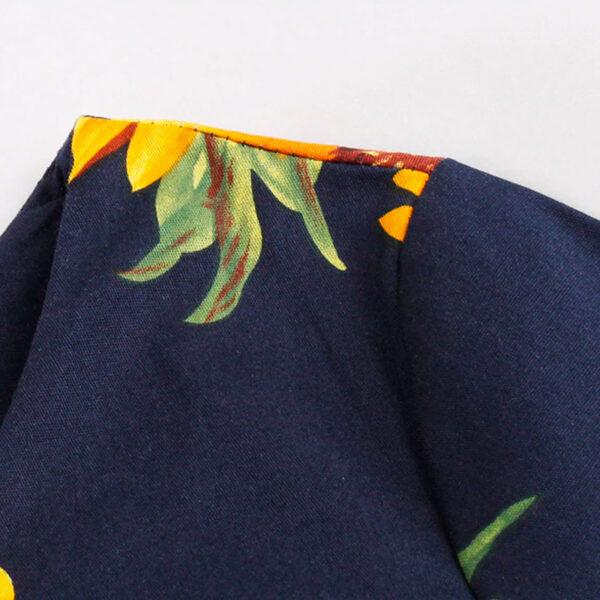 Costura vestido vintage de girasoles