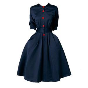 Vestido vintage oficina azul