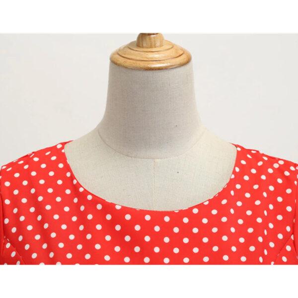 Vestido vintage Polka Dot rojo lunares retro pinup