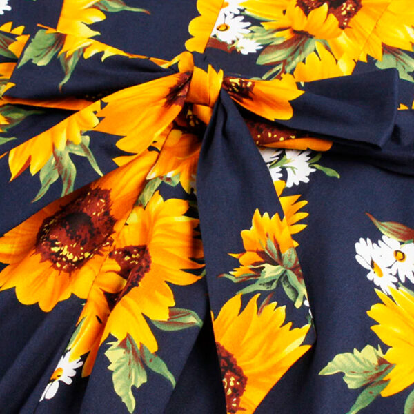 Vestido vintage de girasoles laso