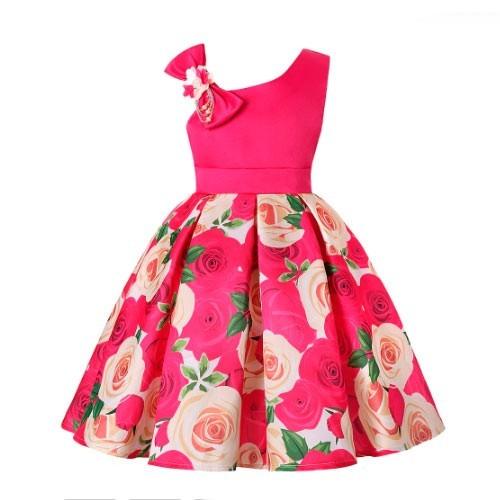 ´Vestido vintage color rosado floral pin up rockabilly
