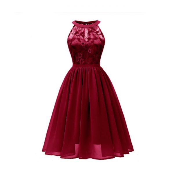 Vestido vintage retro rojo
