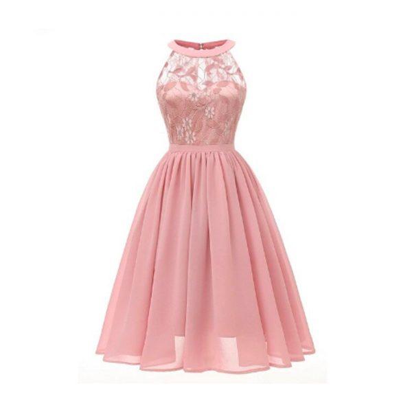 Vestido vintage retro rosado