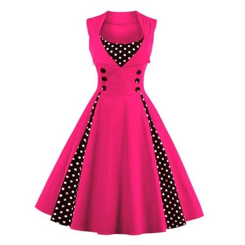 Vestido rockabilly rosado