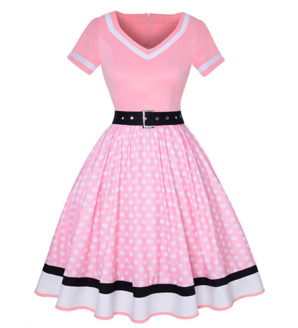Vestido vintage Rosado Pin up
