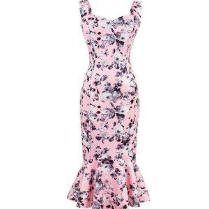 Vestido Vintage rosa floral