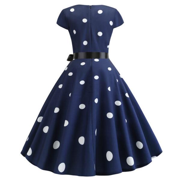Vestido vintage azul marino pinup