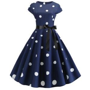 Vestido pin up azul