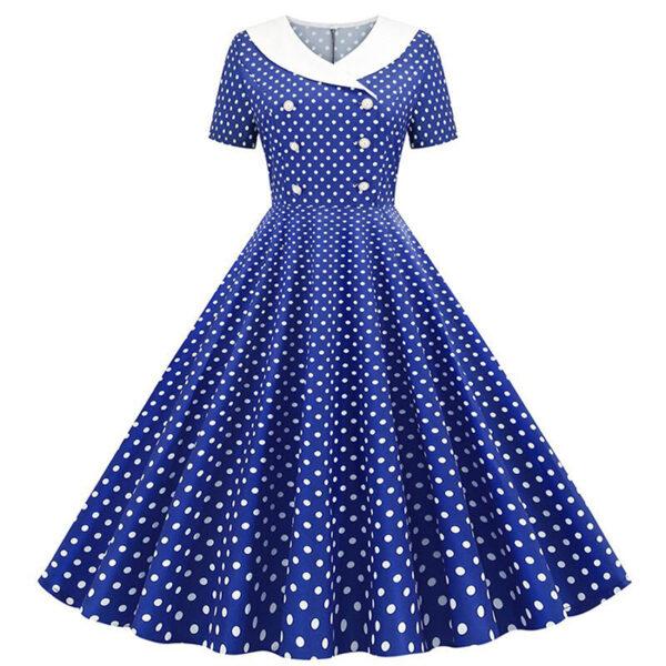 Vintage vestido azul puntos