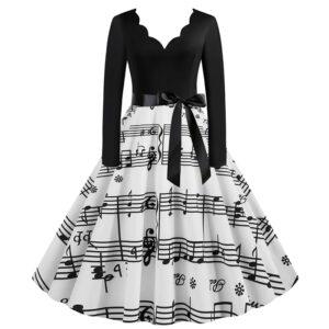 Vestido vintage musical pinup