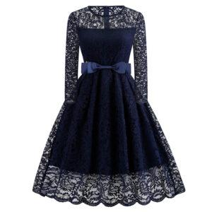 Vestido vintage de encaje azul