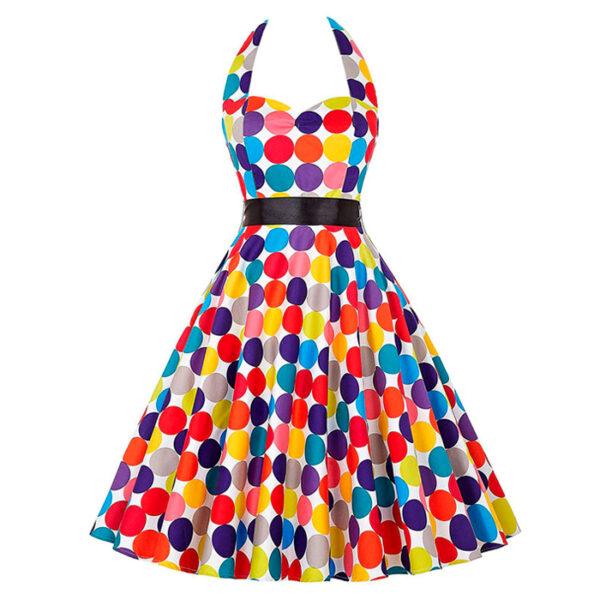 Vestido vintage Polka Dot colores