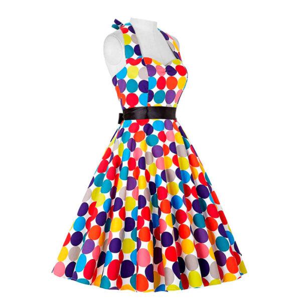 Vestido vintage retro colorido