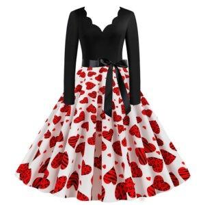Vestido vintage rockabilly corazones