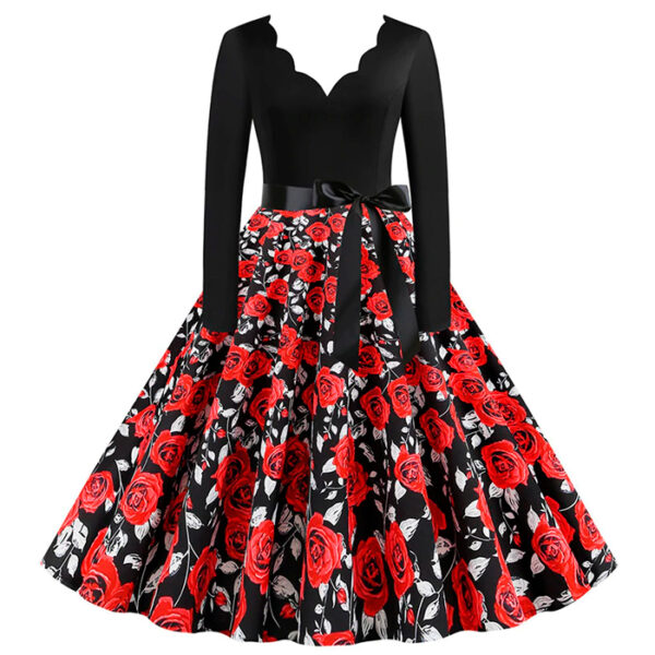 Vestido vintage Floral rockabilly