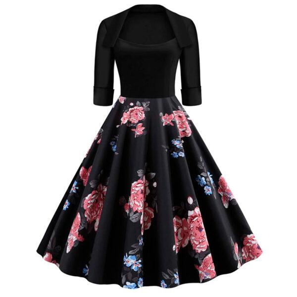 Vestido vintage Floral Retro