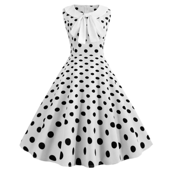 Vestido vintage Polka Dot color blanco y negro