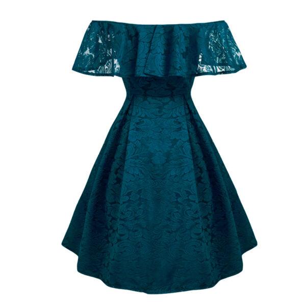 Encaje vestido vintage azul pinup