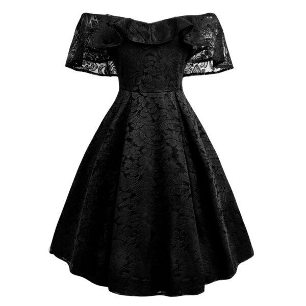 Encaje vestido vintage negro