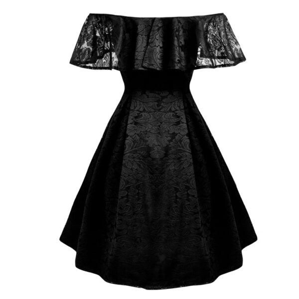 Vestido vintage negro de encaje