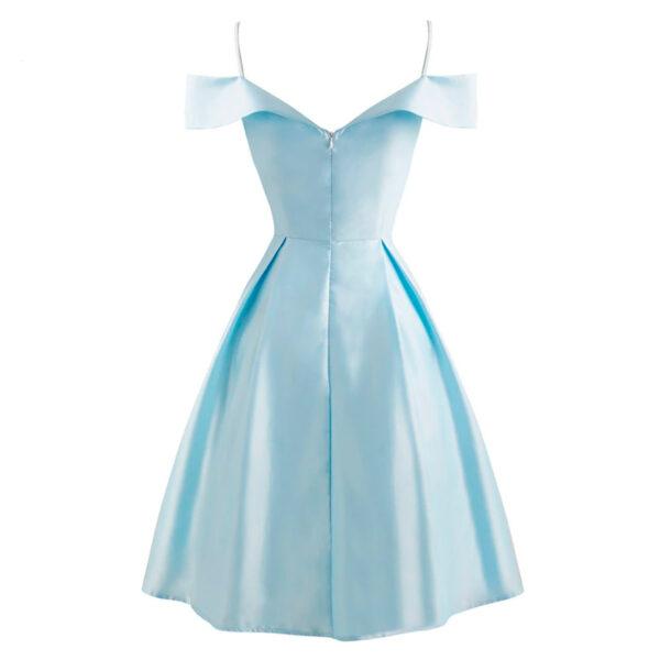 vestido vintage azul elegante