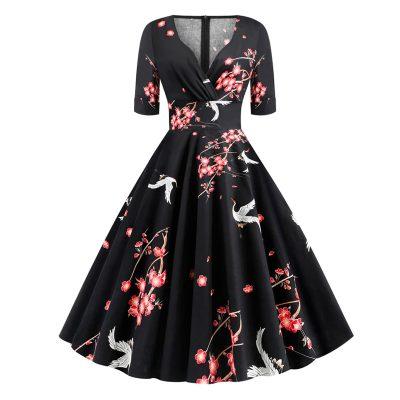 Vestido vintage elegante floral